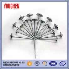 Roofing nail with umbrella head africa steel nails/ steel nail taiwan/ raw material nail making