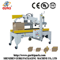 automatic flaps folded carton boxes closing machines