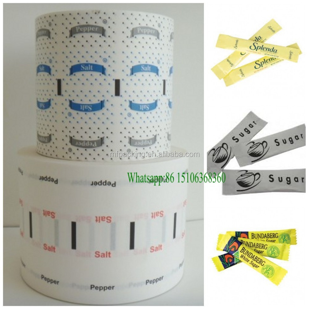 50g Paper Coated and Cutted Paper Roll for Sugar &Salt&Pepper Sachets