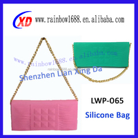 Simple bright colours silicon shoulder bag for women