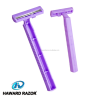 D207 twin stainless steel razor blade knife to comfortable shave