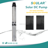 3 inches submersible deep water well dc solar water pump( no need Controller )