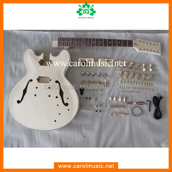 Hollow body 12 string DIY electric guitar kit