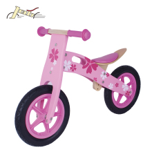 Soccer Kid Plastic Wheel Wooden Balance Ting Bikes with Rubber Tire as Kids toy Bicycles