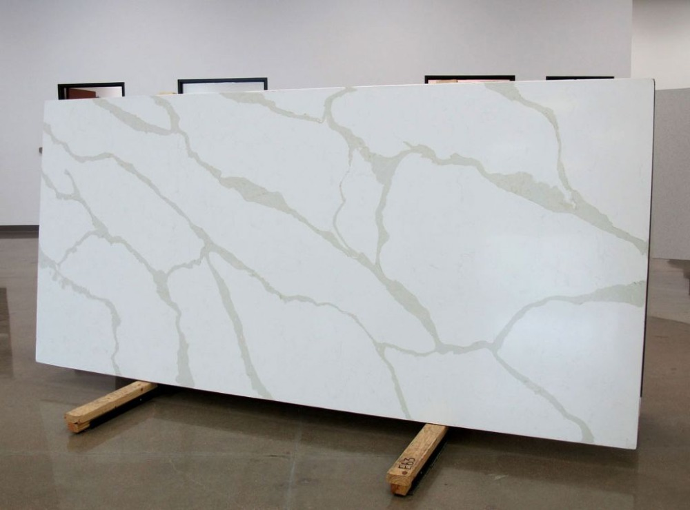 marble look pure white calacatta gold quartz <strong>stone</strong> for home decoration