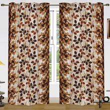Cheap Indian polyester faux silk printing curtain for the living room