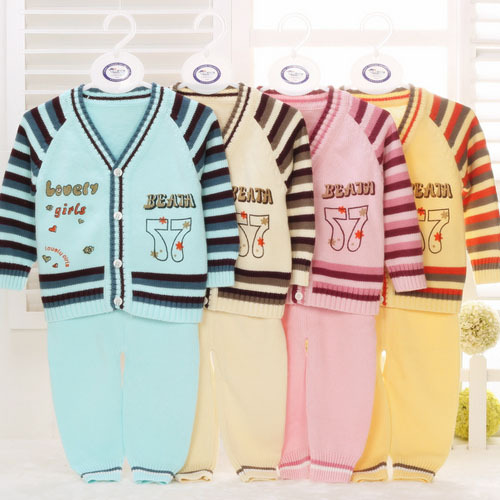 tcx18065 kids knitwear striped knitting autumn newborn baby sweaters