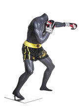 Free fighting man mannequins doing Boxing model