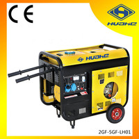 5KW Luxury Type Diesel Generator Electric Start with Handles and Wheels