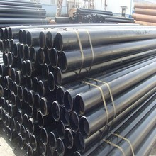 ASTM A53 A106 seamless steel pipe with black coating bevelled ends pipe