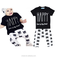 2017 Clothes sets t shirt and pant matching clothing sets baby boys fall outfits clothes kids