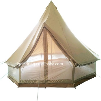 Double mesh wall canvas cotton bell tent