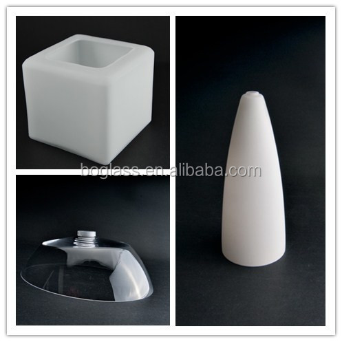 Opal white glass lamp shade Square type for ceiling light