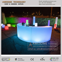 led glow mobile free standing curved bar ( BC140 )