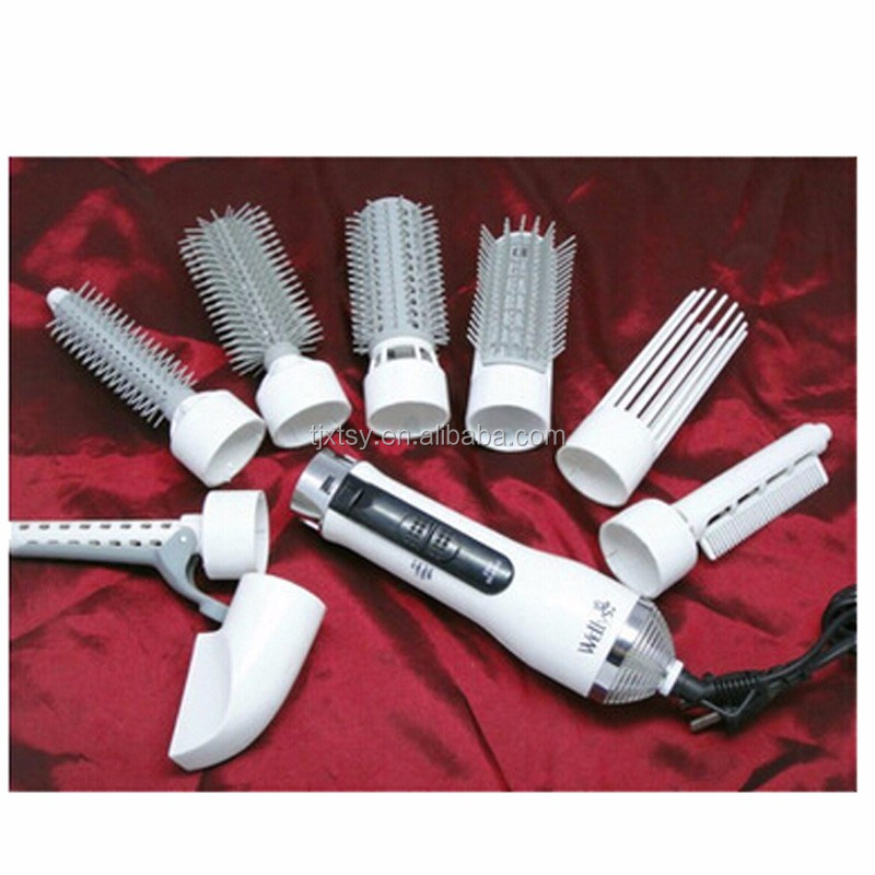 Personal Care Product Portable different size hair straightener and curler brush with dryers Electric Hair styling tools machine