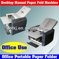 Semi-Automatic Small Size Portable Paper Folder Machine in Stocks,Office Desktop Manual Paper Folding Machines for Sale