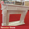 Newstar natural marble stone fireplace round fireplace insert
