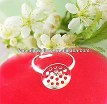free shipping!Wholesale/Copper plating white K ring and perforated bottom tray ID1345 hardware accessories (bag)