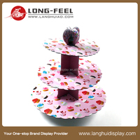 Christmas promotional china 4 tier cardboard cupcake display stand