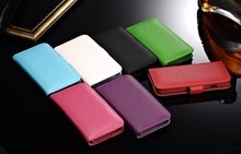 Premium real leather cell phone wallet case for Iphone 6 4.7 inch
