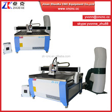 China MDF/Wood CNC Engraving cuuting Machine with dust collector and wheels on leg ZK-1212 1200*1200mm