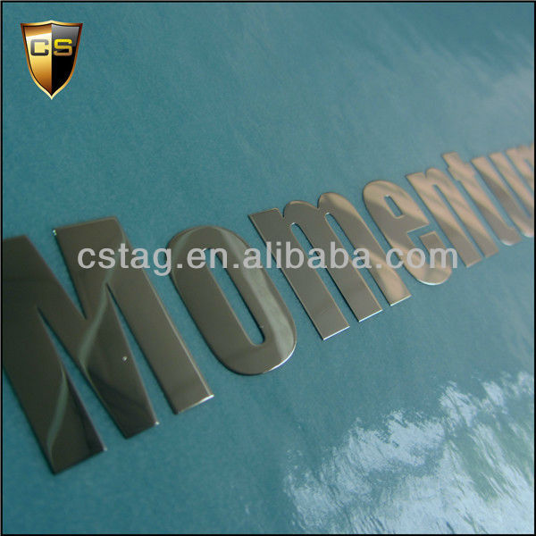Commercial product metal label