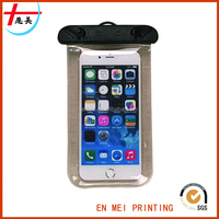 Various Solid Color Fashion Design Clear Waterproof Sport Mobile Phone Bag/Cell Phone Case