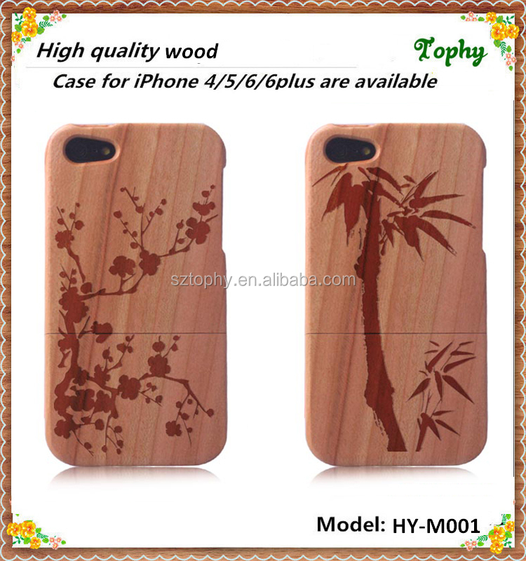 Aromatic Wood Genuine Bamboo Mobile Phone Case Cover For Iphone 4