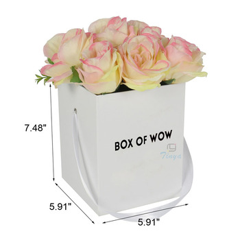 white matte ribbon flower shipping boxes wholesale