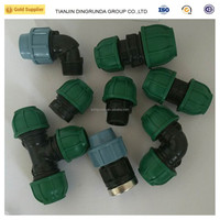 Equal Shape and fast connecting Connection pp compression fittings for irrigation