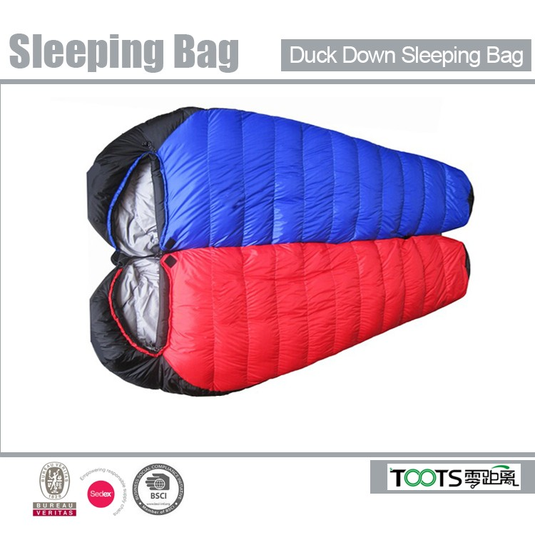 cold weather double layer fur sleeping bag