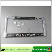 personalized license plate frame for car/ USA market plate number frame with your logo HH-licence plate-(7)