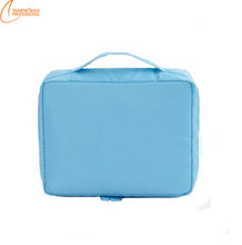 2017 New design women portable make up container waterpeoof Nylon cosmetic bags