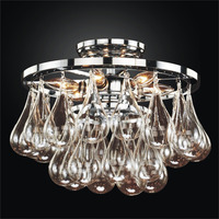 Modern indoor crystal teardrop pendant ceiling chandelier light