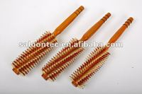 Hairdressing Brown Curly Hair Styling Brush Roll Comb