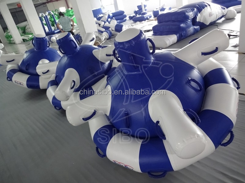 KWP-017 Sibo crazy floating banana inflatable island rafts for sale