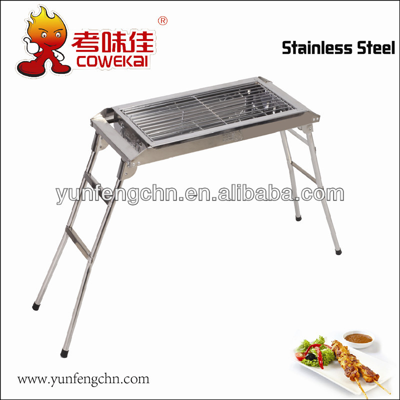 Promotional portable wood fired BBQ grill