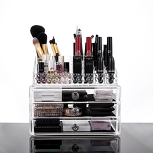 Cosmetic Organiser Lipstick Holder Case 16 Slots MakeUp Crean Transparent Acrylic Box Home Portable Gift