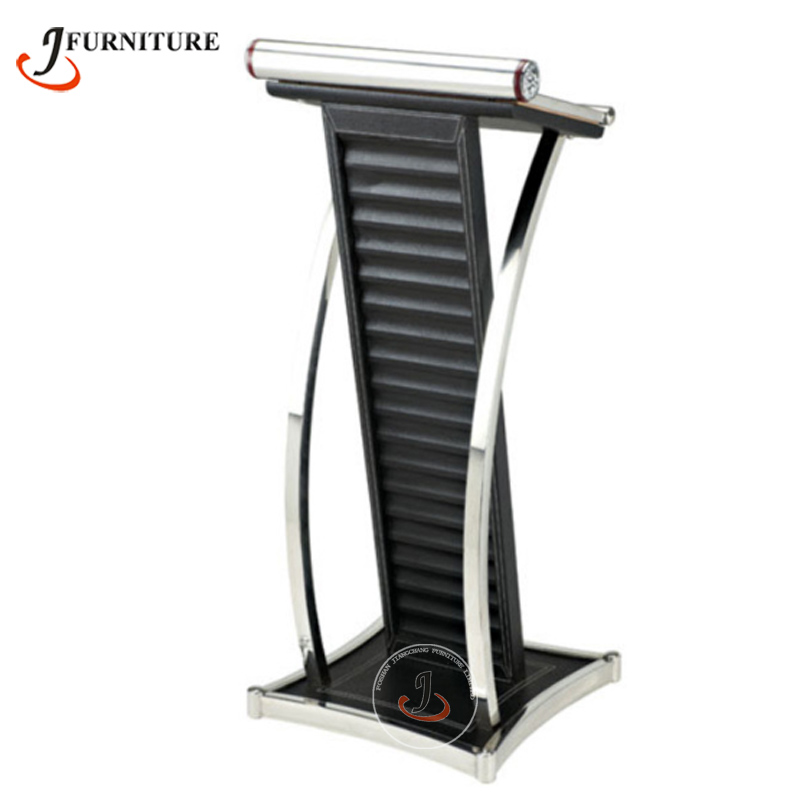 Modern New Design Stainless steel podium with leather