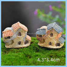 custom mini souvenirs resin fairy miniature houses for gift