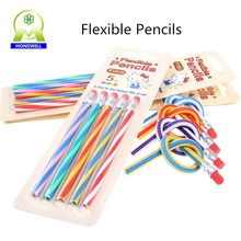 Funny gift bendy & flexible PVC leadholder and graphite pencils