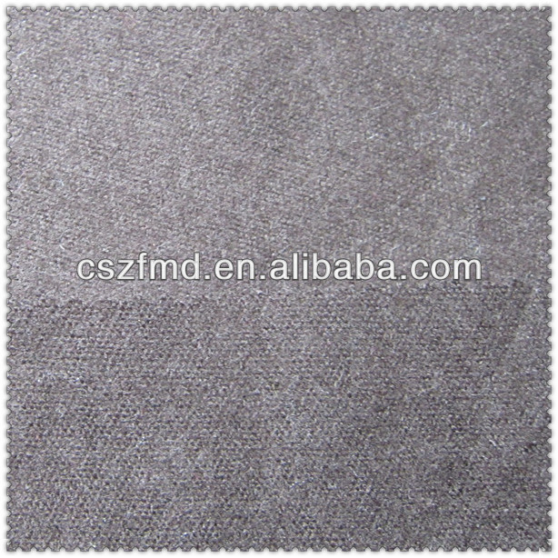Soft woven polyester wool blended fabric made in China
