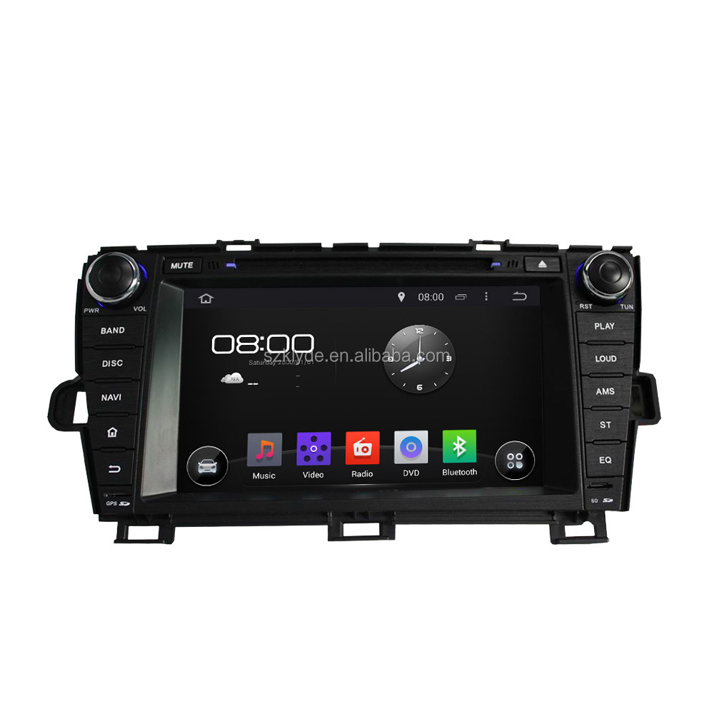 Touch Screen with high definition quad core Car DVD Player for PRIUS 2009-2013 left driving Radio RDS TV USB SD IPOD