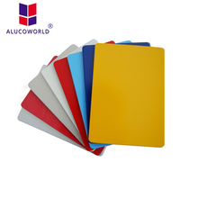 Alucoworld 4mm a2 fr core acp aluminum composite panel in china composite timber cladding acp stock