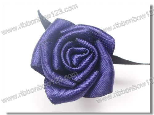 Elegant purple Perfume Decorations Make Satin Ribbon Flowers