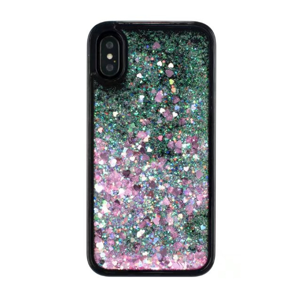 2018 High quality Glitter Quicksand Liquid soft TPU Mobile Phone Shell OEM for iPhone X