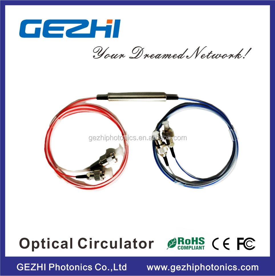Fiber optical circulator 4 port C+S+L band Optical Circulator with 900um loose tube type
