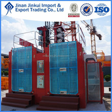 SC200/200 Double Cages Construction Material Hoist, hydraulic lift