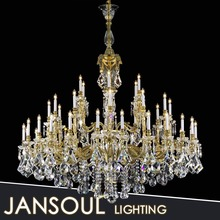 JANSOUL Zhongshan lighting factory unique design classic chandelier top crystal