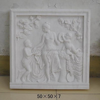 Stone Relievo,white marble wall sculpture panel Relief